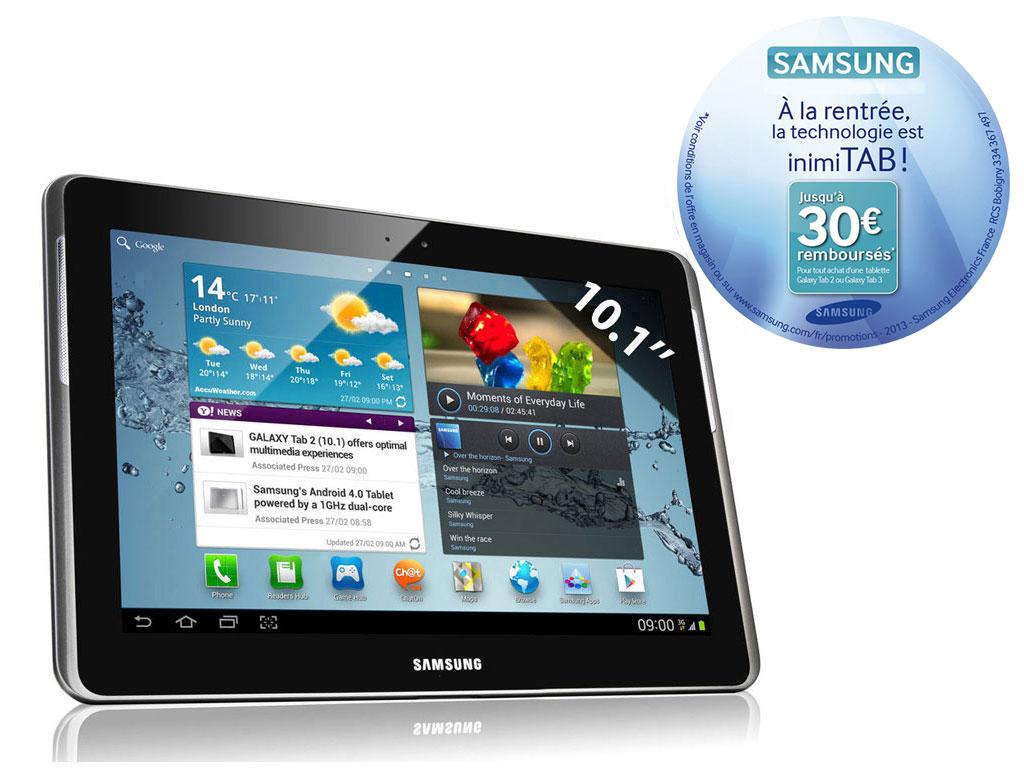 """Samsung Galaxy Tab 2 10.1"""" 16Go (avec ODR 30€)"""