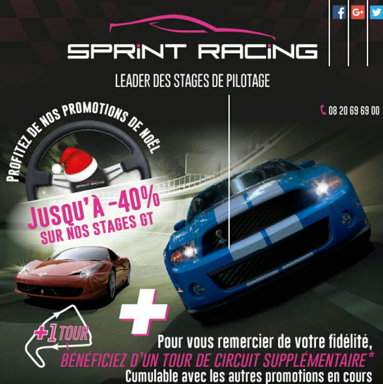 40% de réduction + 1 Tour de circuit supplémentaire offert - Ex : 4 Tours de Nissan GTR sur le circuit de Trappes