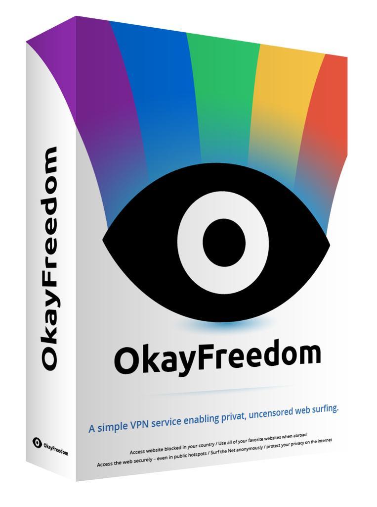 VPN OkayFreedom Premium - Licence de 1 an Gratuite