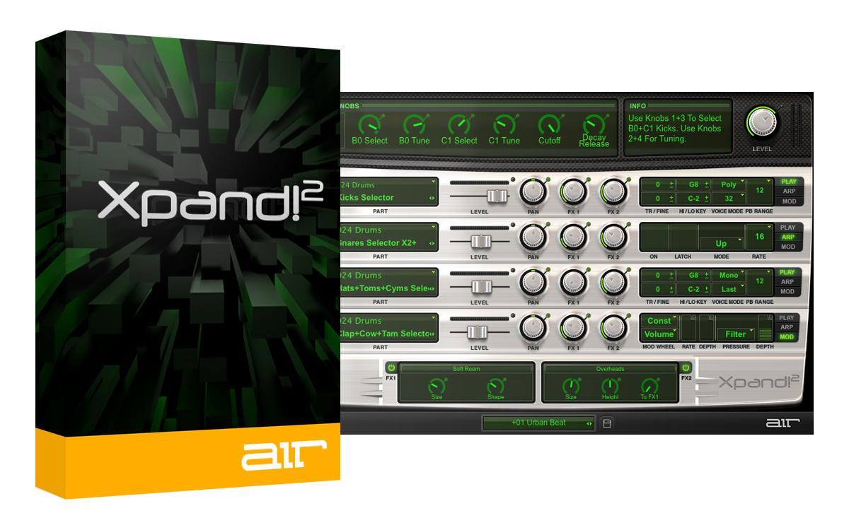 Plugin VSTi Air Music Xpand!2 gratuit (dématérialisé)