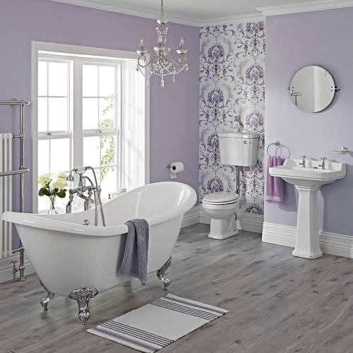 Ensemble Baignoire ilot, lavabo, wc et robinetterie