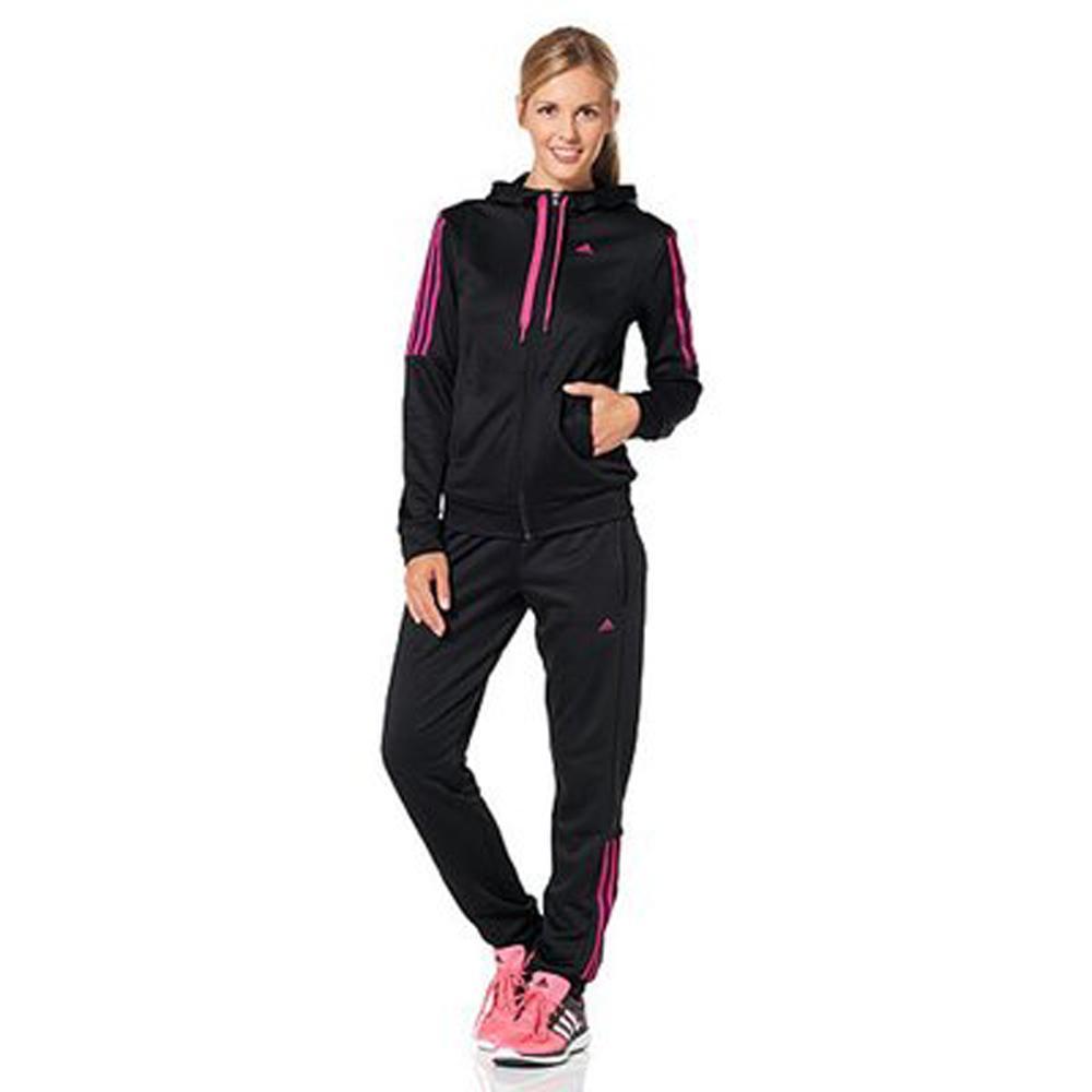 Livraison offerte dès 49€ d'achats - Ex: Survêtement Veste + Pantalon Adidas Noir / Rose pour Femmes (Tailles : S, XS ou XL) à 19;99€