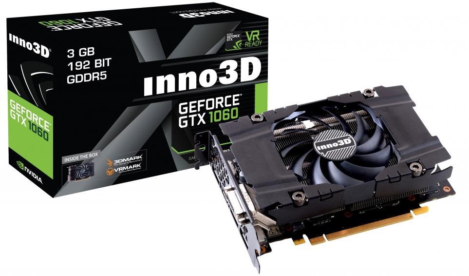10% de réduction sur toutes les cartes graphiques - Ex : Inno3D GeForce GTX 1060 Compact X1 3Go à 188,91€