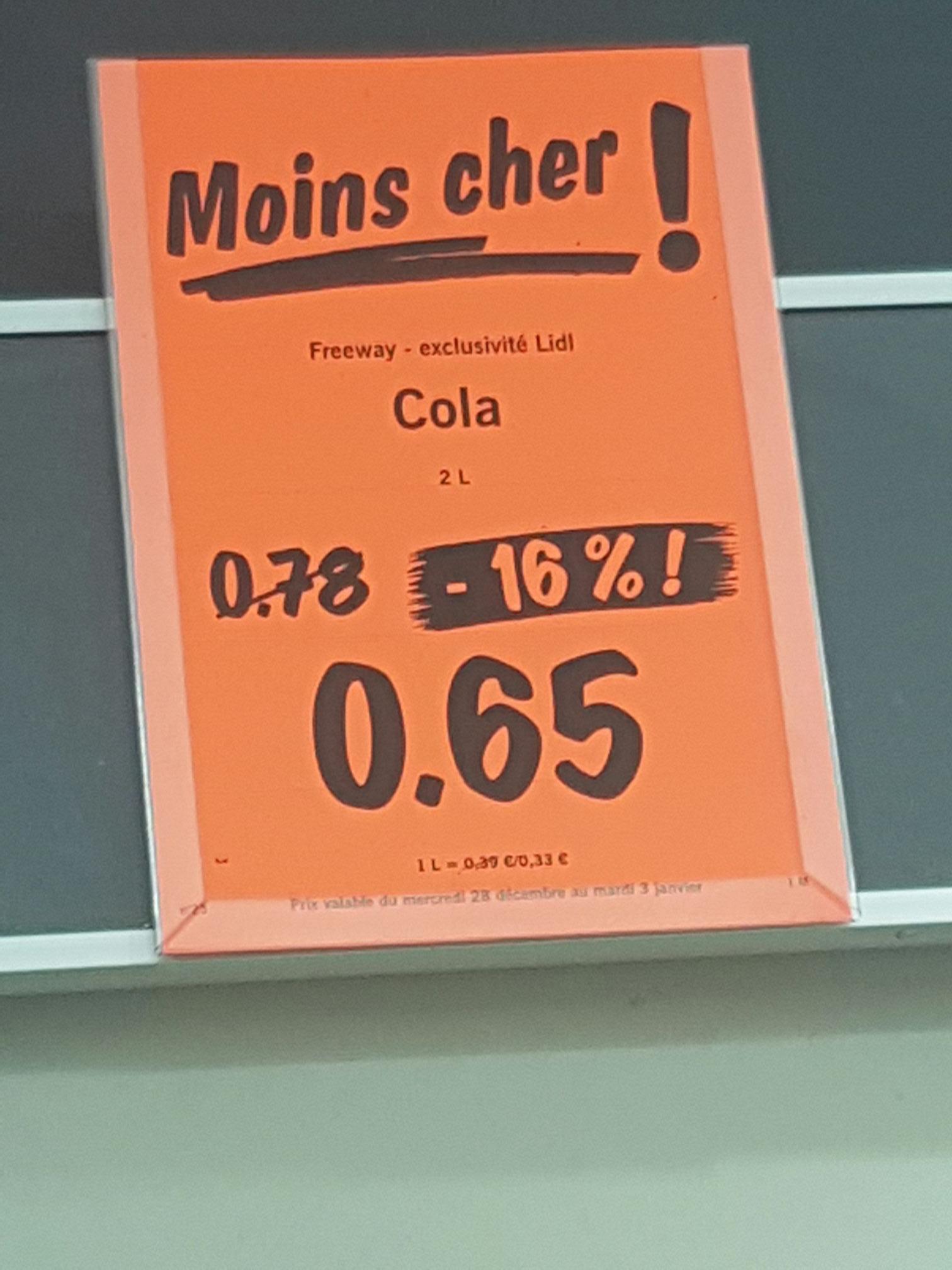 Bouteille de Cola Freeway - 2L