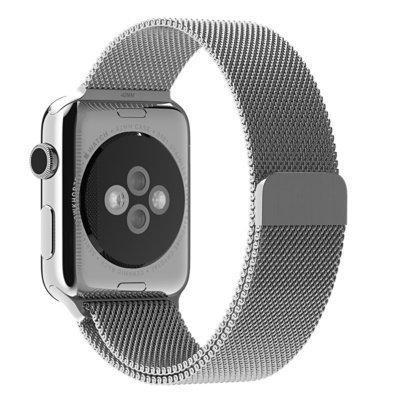 Bracelet milanais argent Jetech pour Apple Watch 42mm