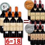 18 bouteilles de Bordeaux médaillés /  Livraison gratuite