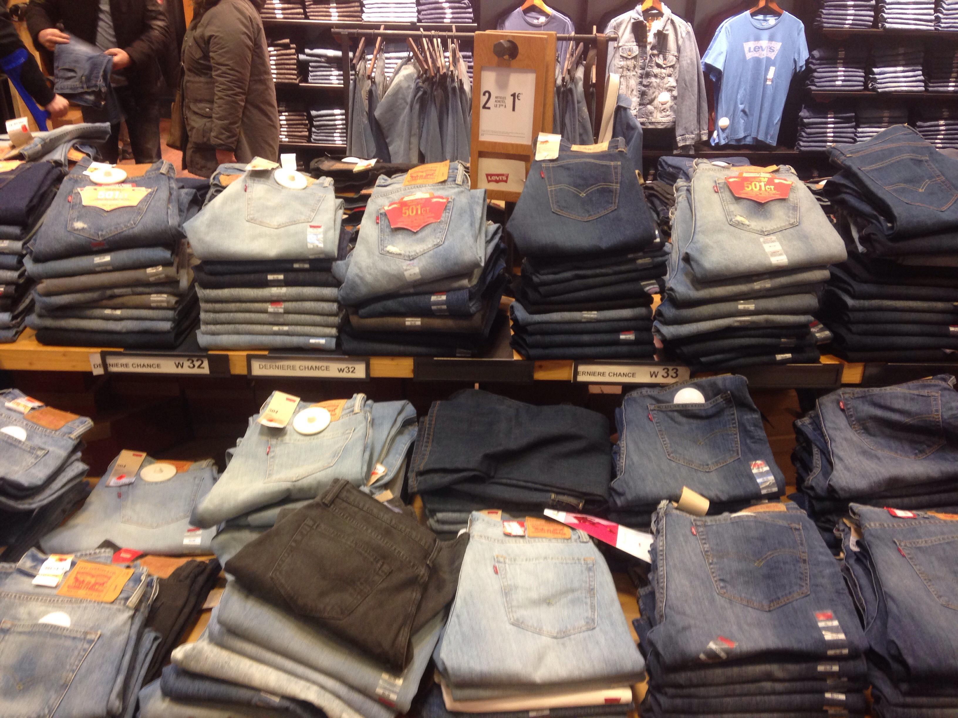2 Jeans Levi's achetés = Le 3ème à 1€ parmi une séleciton