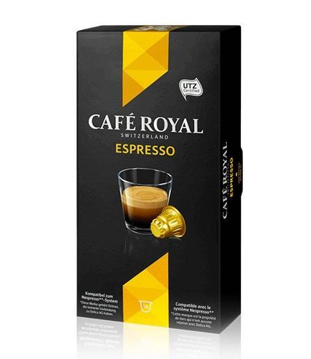 bo te de capsule caf royal pour nespresso via bdr. Black Bedroom Furniture Sets. Home Design Ideas
