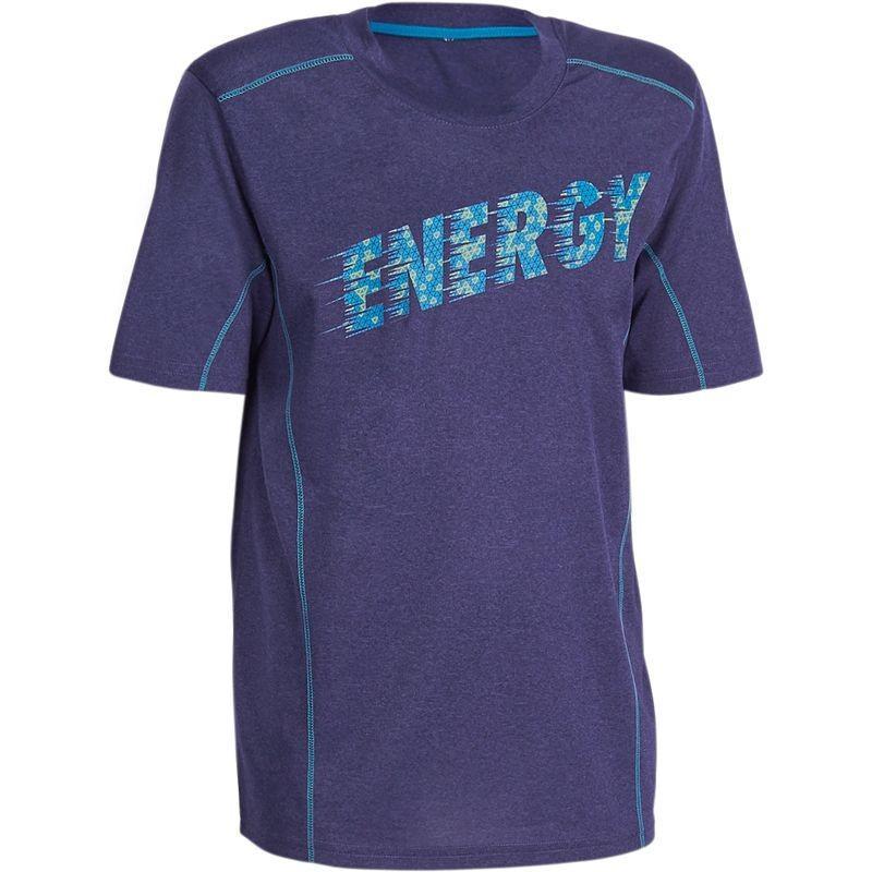 Tee-shirt fitness Domyos - imprimé bleu marine (du 5 au 8 ans)
