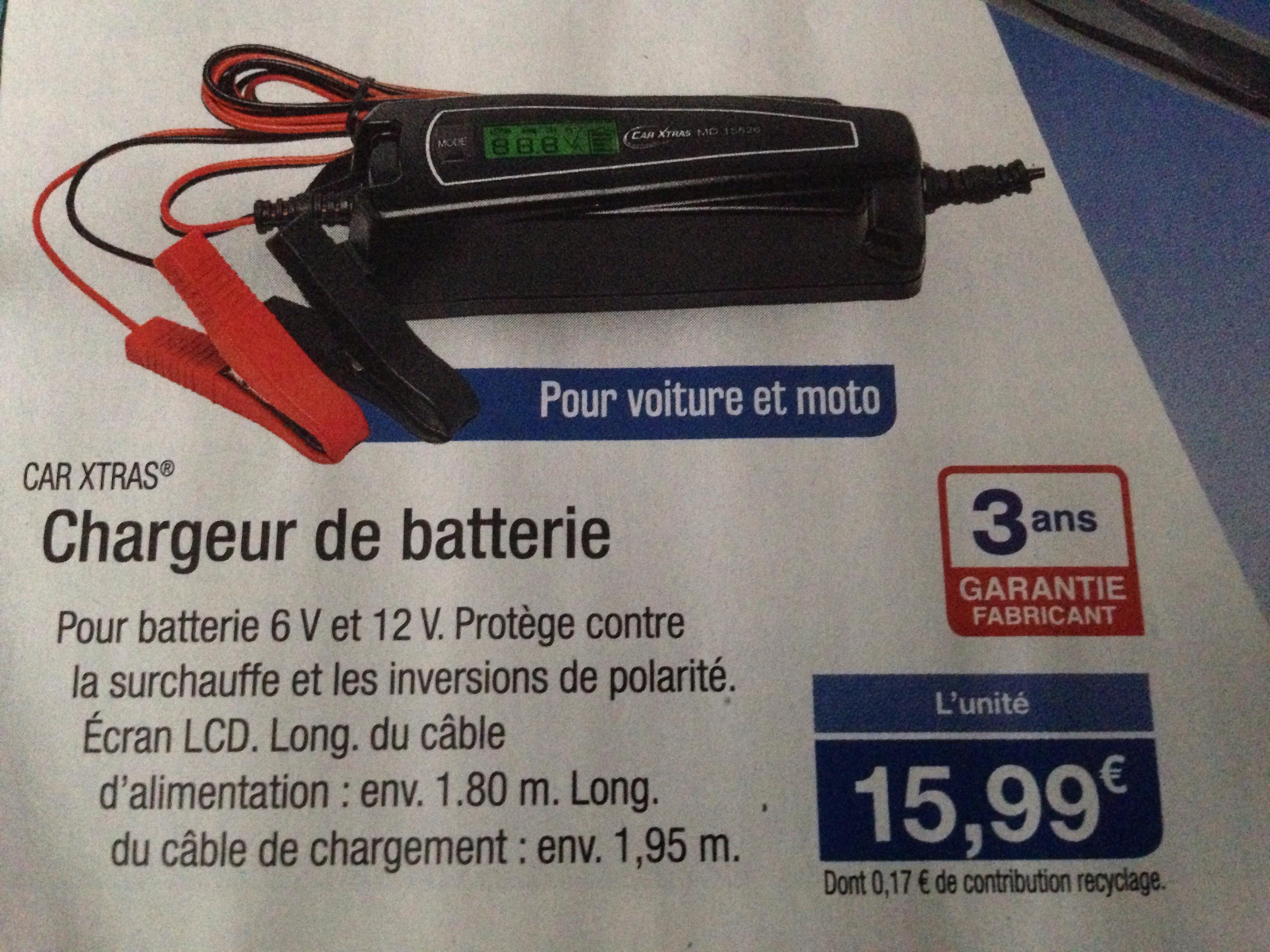 Chargeur de batterie Car Xtras - 6/12V