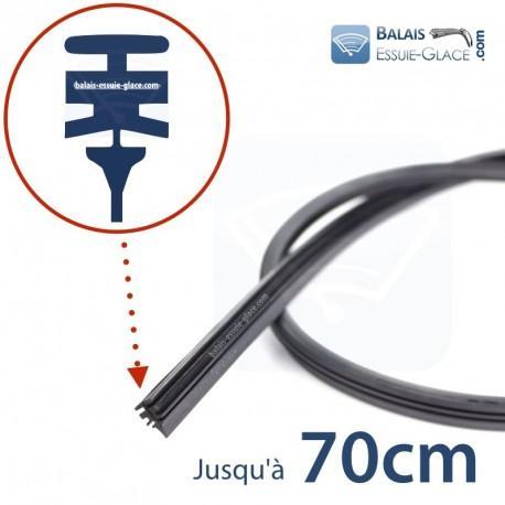 6 lames caoutchouc compatibles Bosch Aerotwin pour balais d'essuie-glaces (70cm)