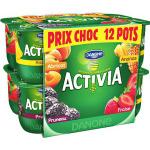 Pack de 12 Activia fruit Danone