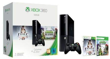 Console Microsoft Xbox 360 500 Go + Plants vs. Zombies Garden Warfare + Fable Anniversary