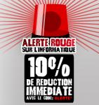 -10% de réduction immédiate sur une sélection de produits informatique