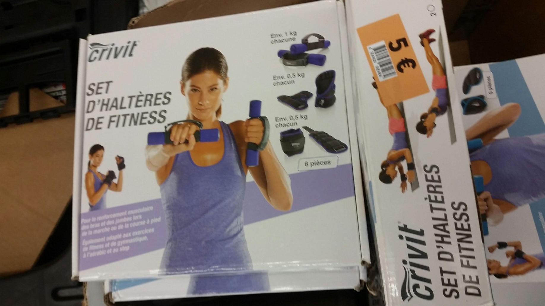 Set d'haltères de fitness Crivit (6 pièces)