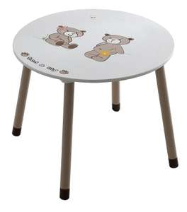Table Ronde pour enfant Demeyere Ted & Lily - Blanc/Beige