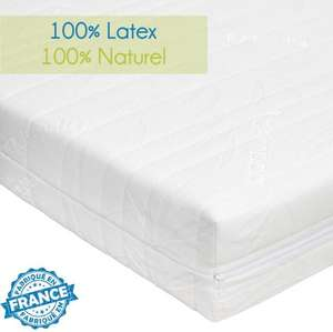 matelas latex 100 naturel novopur 140x190cm. Black Bedroom Furniture Sets. Home Design Ideas