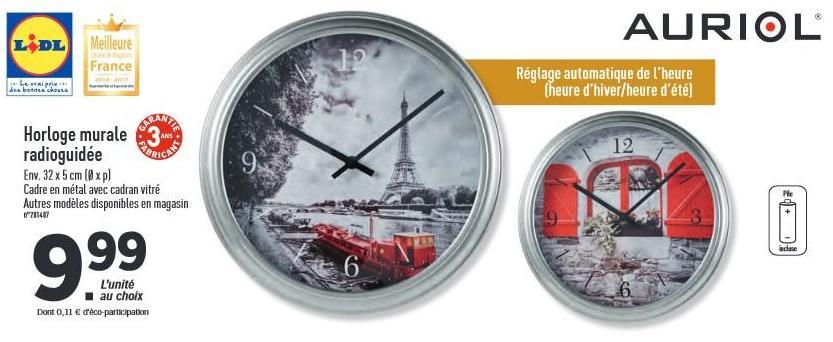 Horloge murale radioguidée