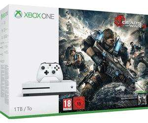 Pack console Microsoft Xbox One S (1 To) + Doom + Fallout 3 et 4 + Gears of War 1 à 4 (+ Judgement)