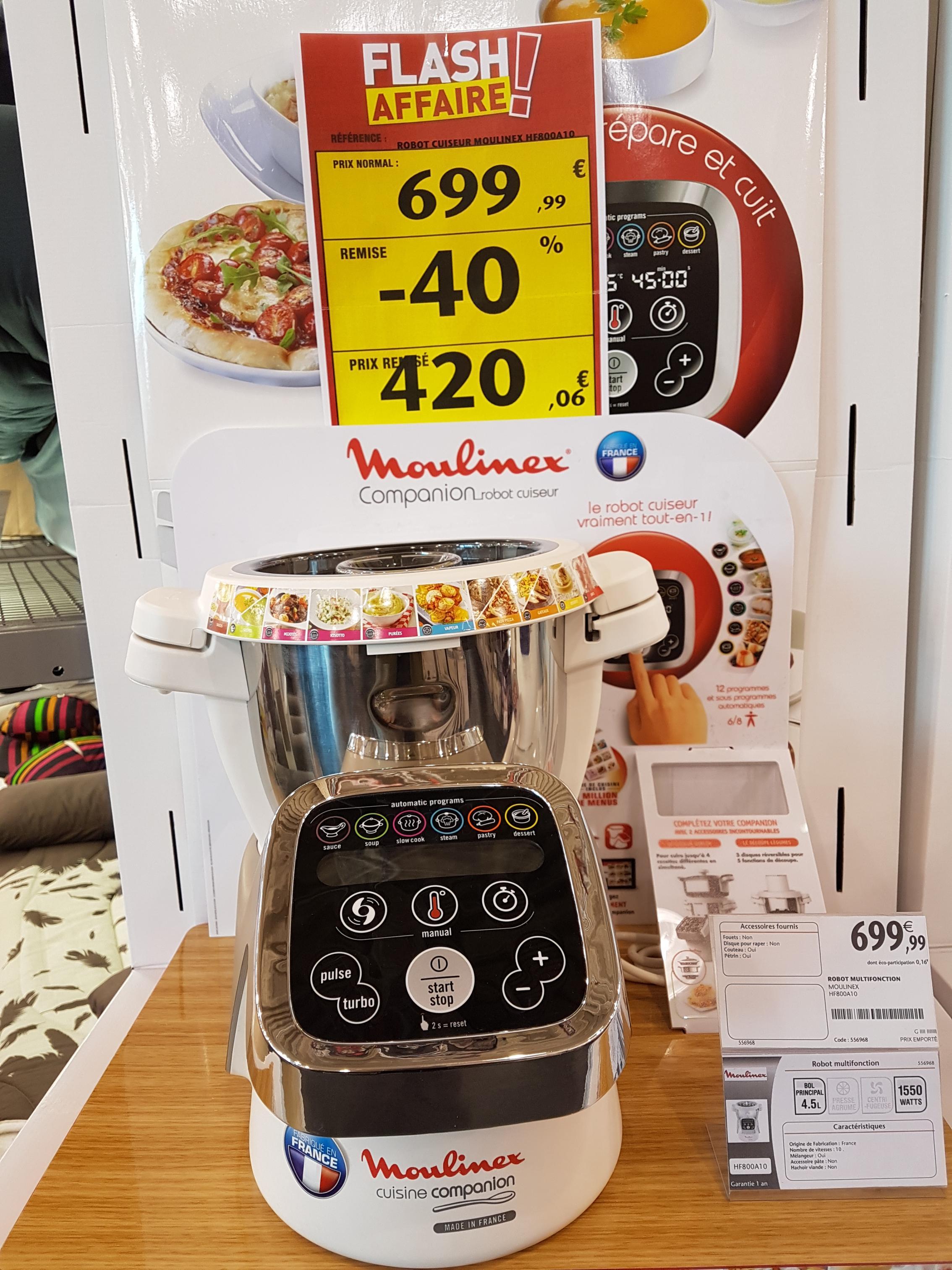 Robot cuiseur Moulinex HF800A10 - 4,5L, 1550W