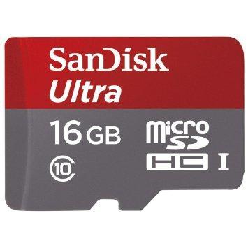 Carte MicroSD (et SD classique) SanDisk Ultra 16GB
