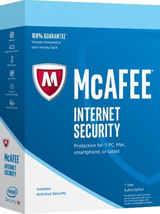 Logiciel McAfee Internet Security 2017 (Dématérialisé) - Licence Gratuite pour 6 mois