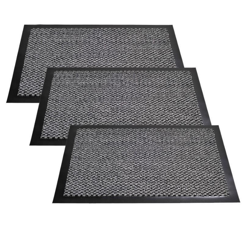 Lot de 3 paillassons anti-dérapants - 50x40 cm