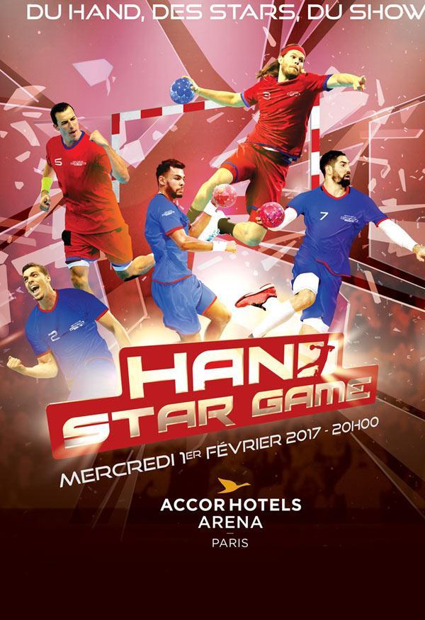 Match de gala de handball Hand Star Game en promotion, le mercredi 1er février à Paris - Ex : catégorie 3