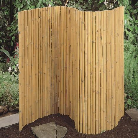 palissade ecran en cannes de bambou mature 1m de haut x 1. Black Bedroom Furniture Sets. Home Design Ideas