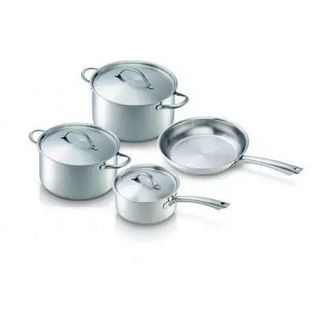 Batterie de cuisine beka inox 18 10 4 pi ces for Batterie inox cuisine