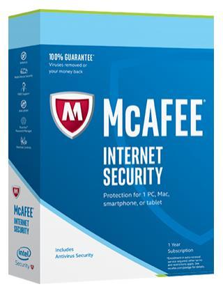 Logiciel McAfee Internet Security 2017 (Licence 6 mois) gratuit sur PC