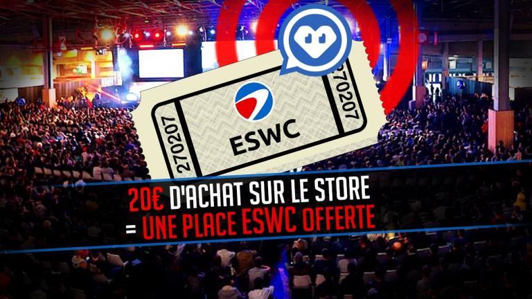 Une place pour la ESWC Winter (Paris) offerte dès 20€ d'achat