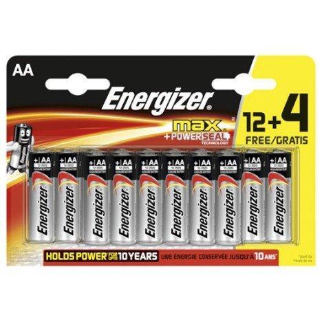 Lot de 16 piles Energizer LR06 AA