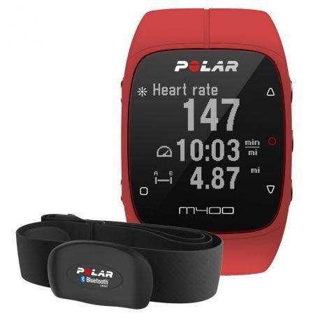 Montre GPS Polar M400 Rouge + ceinture cardiofréquencemètre