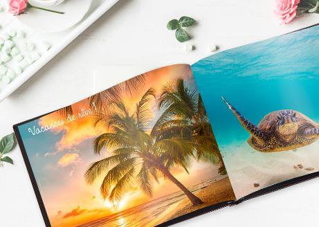 Toutes les pages supplémentaires de votre livre photo offertes (jusqu'à 240 pages au lieu de 24)