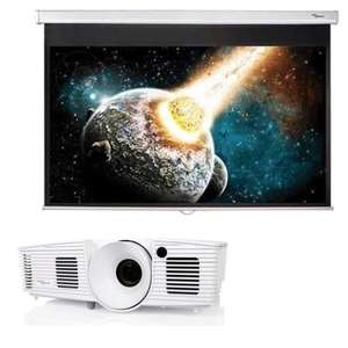 "Vidéoprojecteur Optoma HD26LV - Full HD, 3D, 3200 lumens + Ecran Optoma 72"" 16/9"