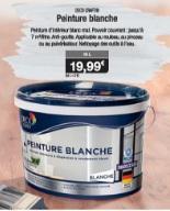 Pot De Peinture D Intérieur Blanche Deco Craft Mat 10 L