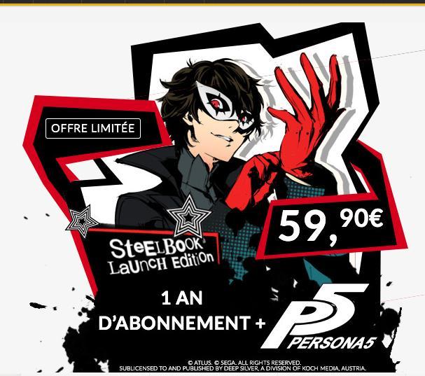 Persona 5 sur PS4 + un an d'Abonnement Premium Gamekult