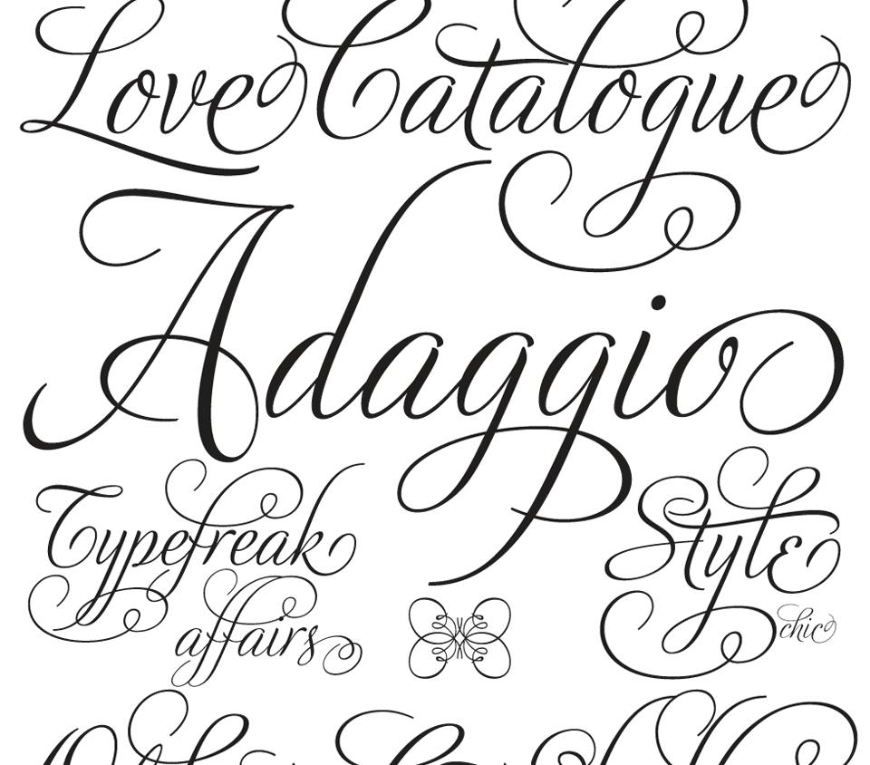 1000 OpenType Fonts pour Mac & PC