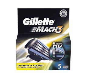 5 lames de rasoirs Gillette Mach 3