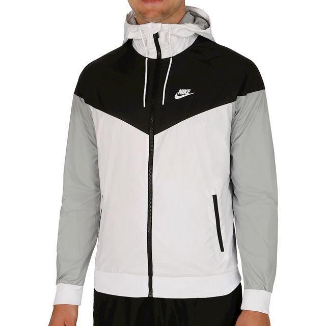 Sportswear Nike Court Windrunner pour Homme - Manches Courtes, Blanc/Noir