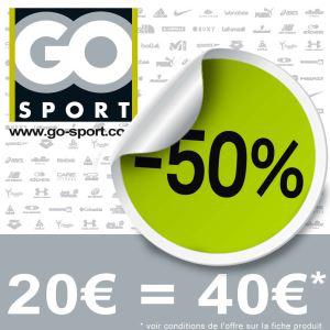 Bon d'achat GO Sport de 40€