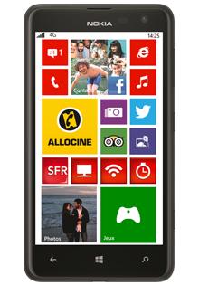 Smartphone Nokia Lumia 625 sous Windows Phone 8 avec forfait RED (ODR de 90€)