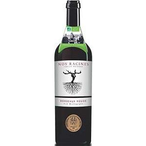 Bouteille de vin rouge AOC Bordeaux Nos Racines Bio 2015 - 75cl