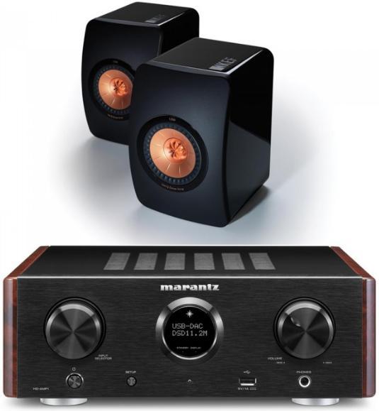 Ampli Hi-Fi Marantz HD-AMP1 + Paire d'Enceintes KEF LS50 - Coloris au choix