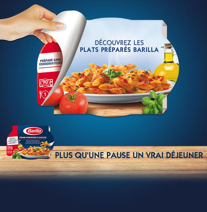Un plat préparé Barilla gratuit pour l'achat de 3 produits Barilla