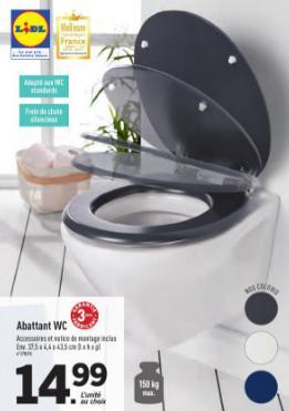 abattant WC avec frein de chute