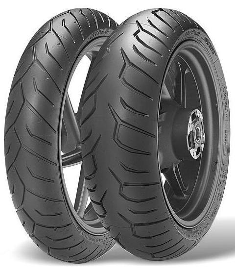 paire de pneus pour moto pirelli diablo strada 120 70r17 et 180 55r17. Black Bedroom Furniture Sets. Home Design Ideas