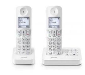 Pack de 2 combinés sans fil Philips D405 duo répondeur / Via Buyster