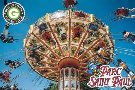 1 à 4 entrées Parc d'attractions St Paul